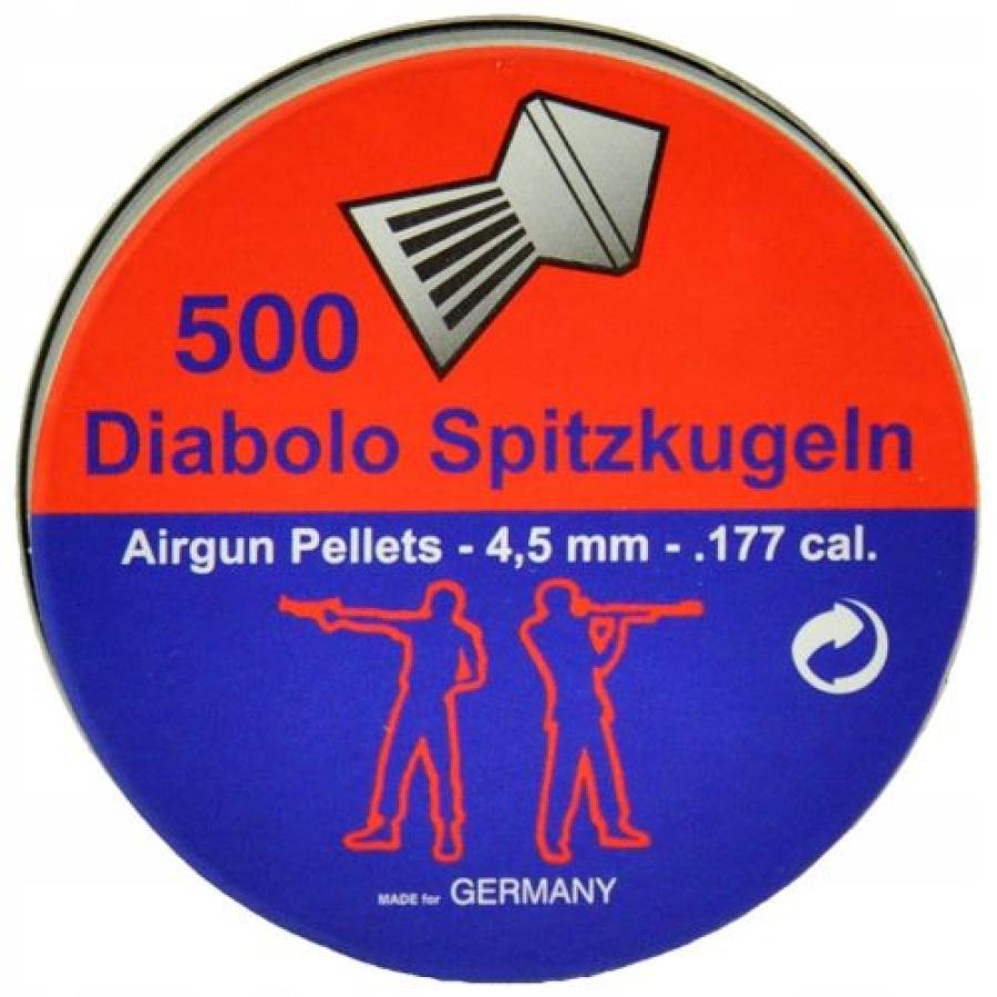 Šoviniai Diabolo Spitzkugeln 4.5mm 500vnt
