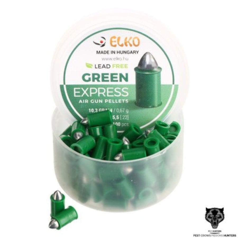 Šoviniai Elko žali 5.5mm 50vnt
