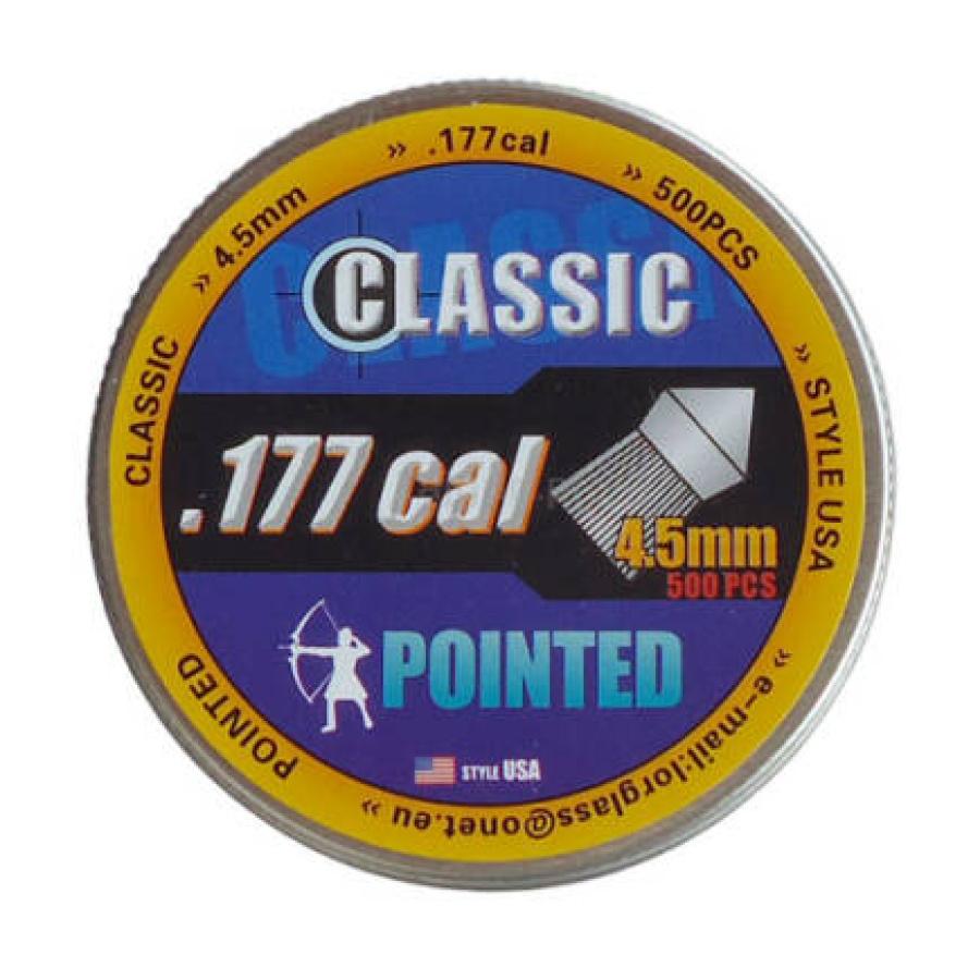 Šoviniai Classic Pointed [USA] 4.5mm 500vnt