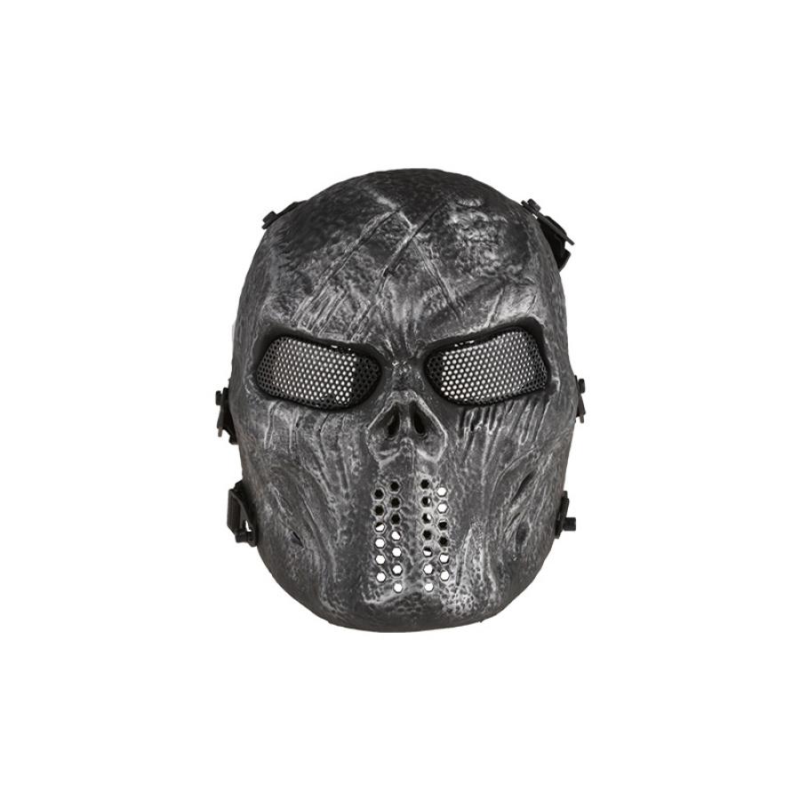 Taktinė kaukolės kaukė juoda
