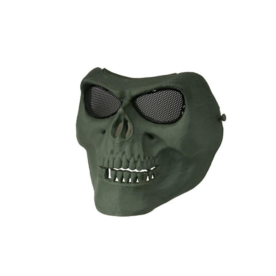 Veido kaukė Skull style žalia